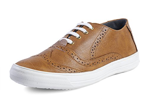 Freedom Daisy Men's F.D-011018 brogue Casual Shoes Sneaker (8, Black) (8, Tan)