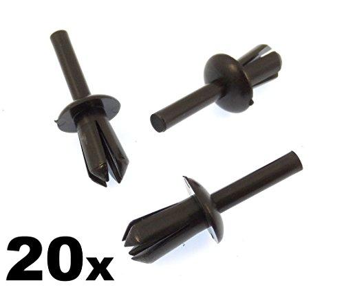 20x 5mm Plastik Clips Nieten Für Verzierungen, Radhausschale / Verkleidung (51-16-1-881-149, 51161881149, 51160154946, 51-16-0-154-946)
