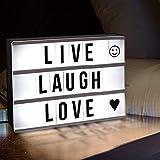 Garmol DIY A4 Taille LED Combinaison Boîte à lumière Night Table Lampe Creative design DIY BRUN Lettres Cartes USB Alimenté Lightbox...