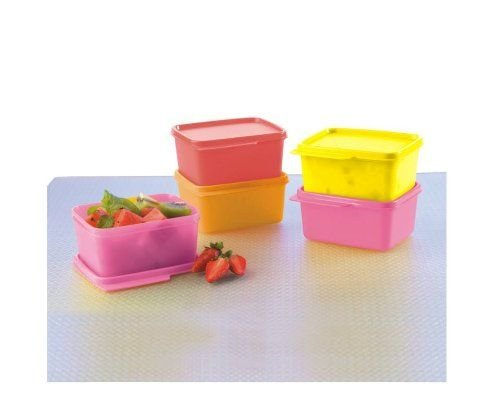 Tupperware Keep Tab Plastic Container Set, 500ml, Set of 4, Multicolour (TUP_B01AQEW3J0)
