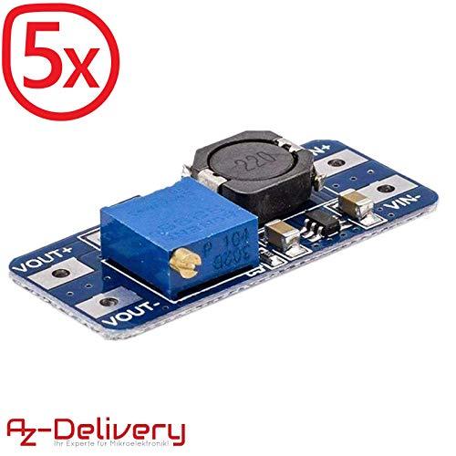 Volt Spule (AZDelivery ⭐⭐⭐⭐⭐ 5 x MT3608 DC-DC Netzteil Adapter Step up Modul für Arduino mit Gratis eBook!)