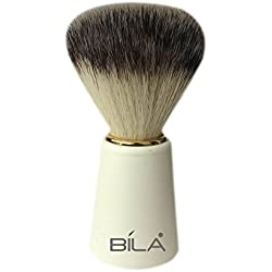 Bila Synthetic Badger Ivory Finish Shaving Brush-BB103