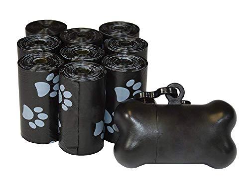 HYFZY Sacchetti Per Bisogni Dei Cani, Con Dispenser E Clip Per Guinzaglio, 1800-Biodegradabiliconfezione Da (Nero, Blu, Rosa, Verde, Viola)