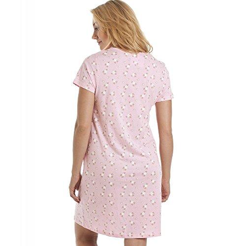 Chemise de nuit à manches courtes - imprimé floral - rose/blanc Rose