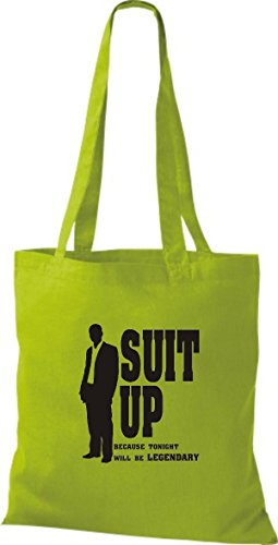 ShirtInStyle Stoffbeutel How I Met Your Mother Suit Up diverse Farbe kiwi