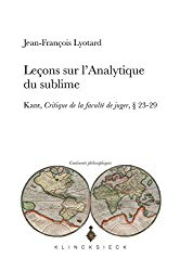 Leçons sur l'analytique du sublime : Kant, Critique de la faculté de juger, 23-29