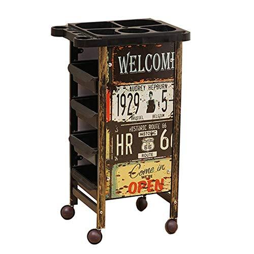 Portable Cart - GR / 5 cajones Belleza Retro peluquería