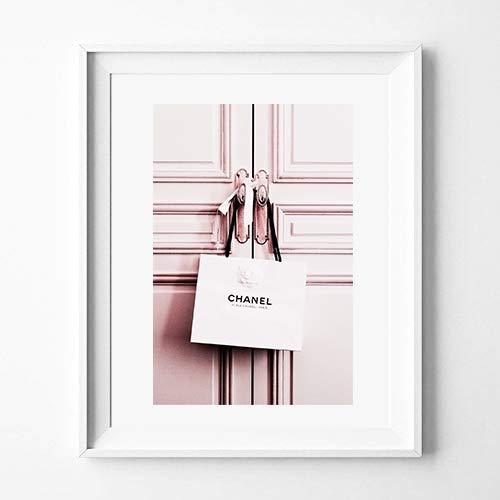 aw-photograph Plakat rosa Tür, Elegante Dekoration für das Haus (30 x 40 cm)