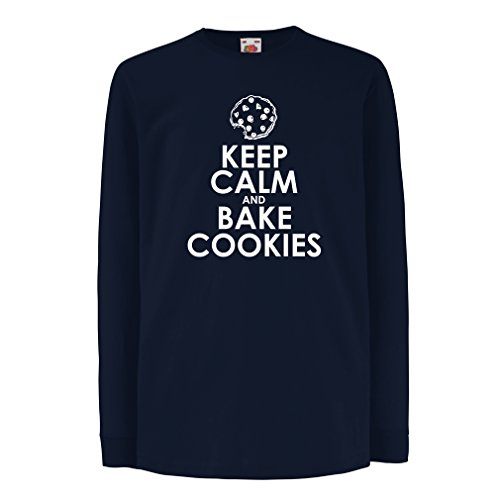 Lepni.me bambini t-shirt con maniche lunghe fare i biscotti - giacca cuoco, divertente abbigliamento chef (14-15 years azzulo multicolore)