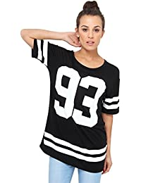 KRISP® Femmes T- Shirt Long Boyfriend Looose Fit Imprimé
