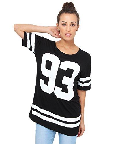 KRISP Damen T-Shirt 3892 Schwarz 6803