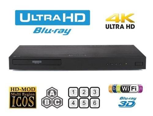 LG UBK90 4K UHD Blu-ray and DVD Player