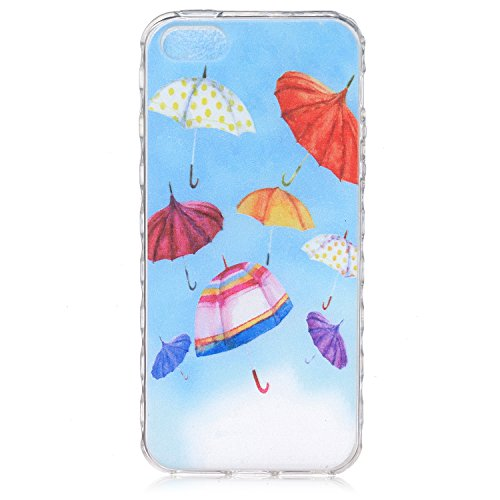 iPhone 6S Plus Hülle Silicone,iPhone 6S Plus Hülle Glitzer,iPhone 6S Plus / 6 Plus Hülle TPU Case Schutzhülle Silikon Crystal Clear Case,EMAXELERS iPhone 6S Plus Hülle Bunte Blumen Schmetterling Muste Blue TPU 1