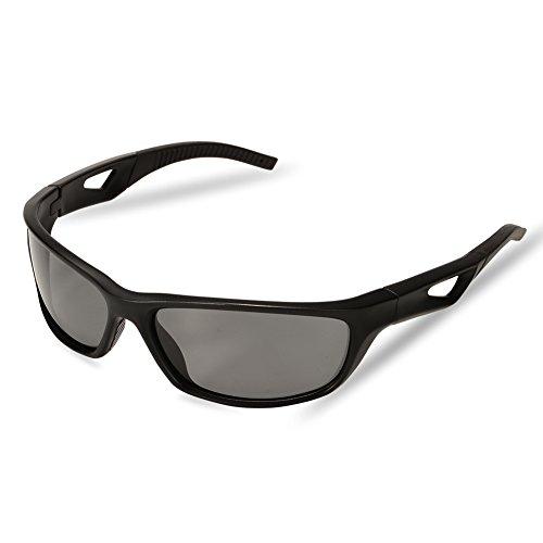 Zantec Sonnenbrille Fischerei, Sonnenbrille Frauen tr Rahmen für Männer Radfahren Golf Corsa Fischerei Jagd Rudern Polaroid Brille, Black & Blue, Nero e Grigio