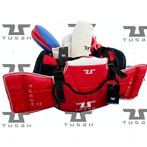 Tusah - Bolsa para Taekwondo Pro-Bag con tierna Peto Externo para Artes Marciales Taekwondo Karate Kick Boxe