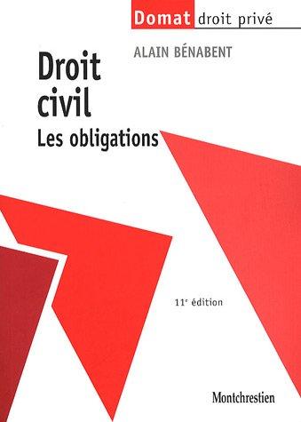 Droit civil : Les obligations par Alain Benabent