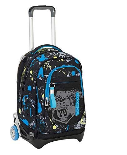 Trolley seven new jack - sprinkle - nero - sganciabile e lavabile - 35 lt - serigrafia fotosensibile
