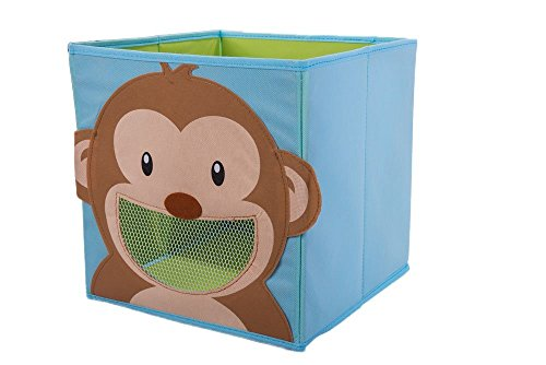 Clever Creations Smiling Monkey Collapsible Toy Storage Box And Closet Organizer For Kids