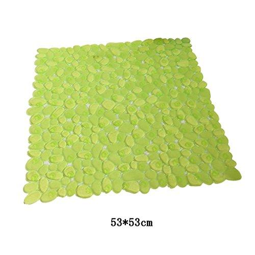 LYJ Tapis de bain Salle De Douche Antidérapante Tapis De Sol / Salle De Bain Masse Tapis De PVC / Suction Plateau En Plastique (Multi-couleur En Option) Séchage rapide ( Couleur : Vert )