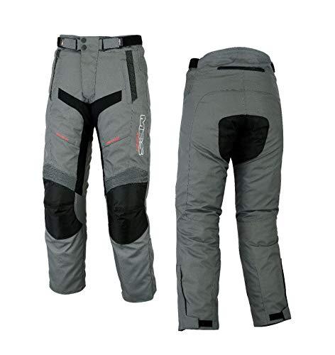 MBSmoto MP-51 Roader - Pantalón cordura impermeable para motocicleta, scooter, crucero, touring, resistente al viento