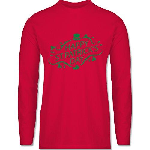 Festival - Happy St. Patrick's Day - Longsleeve / langärmeliges T-Shirt für Herren Rot