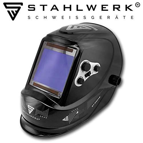 STAHLWERK ST-950XB Vollautomatik Schweißhelm, Optische Klasse: 1/1/1/1, extra großes Sichtfeld, 5 Jahre GARANTIE* auf FILTER, inkl 5 Ersatzscheiben & Tasche -