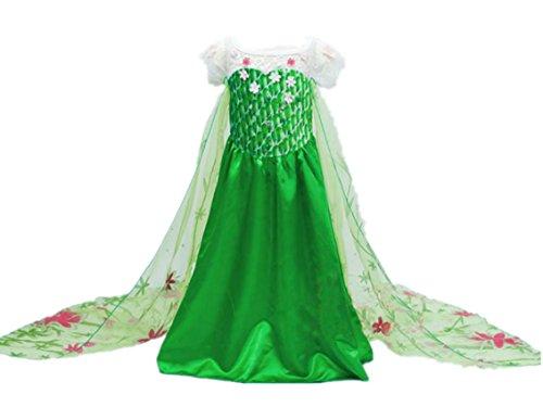 Beunique Elegante Elsa Prinzessin Kostüm Kinder Kleid Mädchen Weihnachten Verkleidung Karneval Party Halloween (Del Kostüm Boy Mieten)
