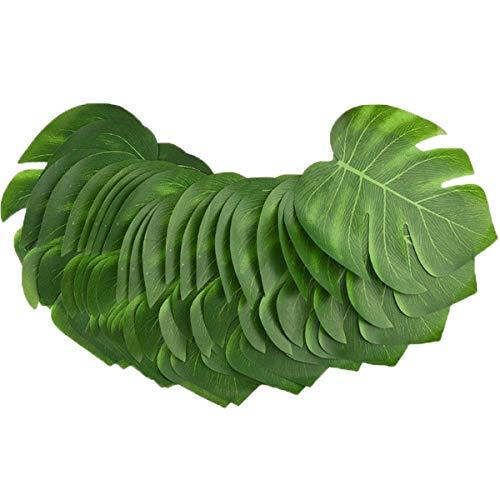 WINOMO 12stk Künstliche Tropische Palme Verlässt Simulations Blatt für Hawaiische Luau Partei Dschungel Strand Thema Dekorationen