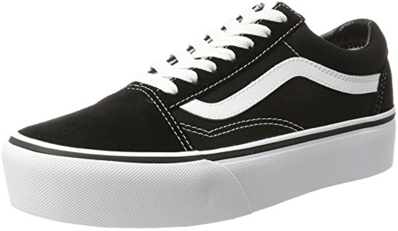 Vans Old Skool Platform, scarpe da bianca ginnastica Donna, Nero (nero bianca da Y28), 42.5 EU 20bb62