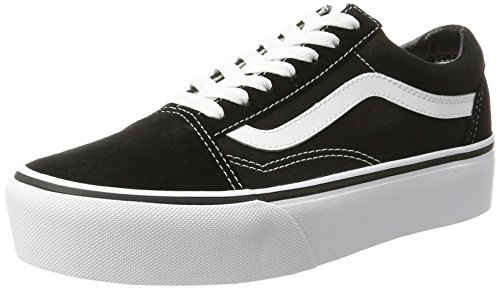 Vans Old Skool Platform, Sneaker Donna, Nero (Black/White Y28), 38 EU