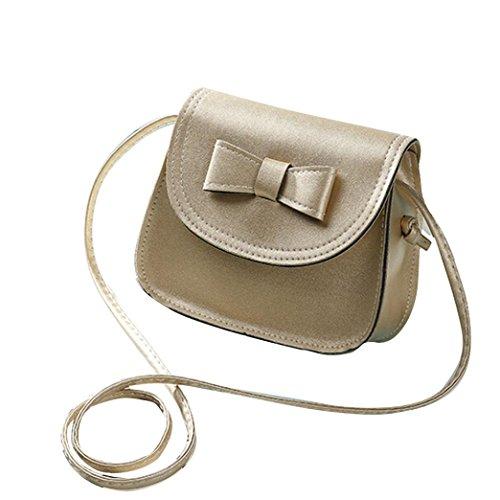 Transer Women Shoulder Bag Popular Girls Hand Bag Ladies PU Leather Handbag, Borsa a spalla donna Multicolore Green 17cm(L)*16(H)*7cm(W), Grey (Multicolore) - CQQ60901349 Gold