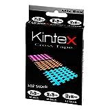 Kintex Cross-Tape Mix-Box 102 Pflaster gemischt, (beige, blau, pink) Akkupunktur, Trigger, Schmerzpunkt, Gitter-Pflaster