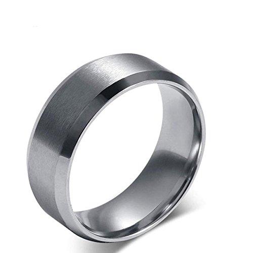 n/Damen Wolframcarbid Außenbreite 8mm bequem, Men Fashion Schmuck ✔Ehering ✔Verlobungsring ✔Freundschaftsring ✔Lifestyle-Ring, schwarz+blau, Größe 47 bis 80 ()