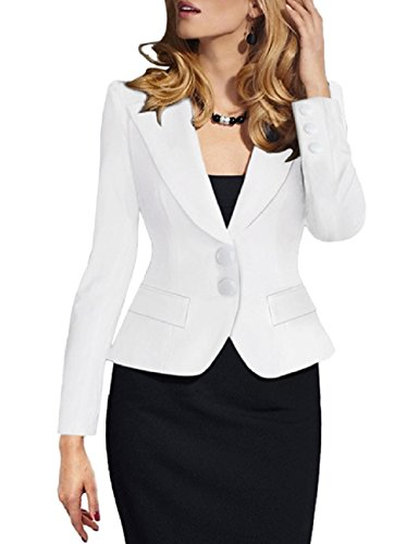Lrud Damen Langärmliger Kurzer Taillierter Anzugjacke Colourful Blazer Business