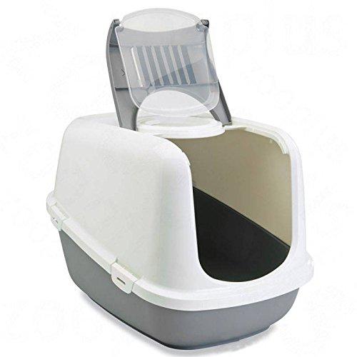 Savic 3423 Katzentoilette NESTOR JUMBO speziell für große Katzenrassen, XXL, weiß-grau