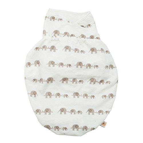 Ergobaby Pucksack Baby 0-3 Monate Baumwolle, Elephant Puck Baby-Schlafsack Ganzjahres Pucktuch Swaddler Baby 0 3 Monate