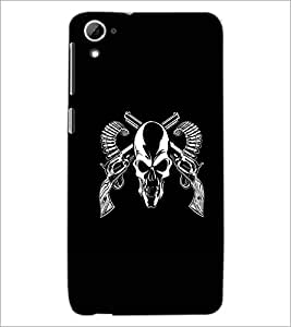 PrintDhaba Skull D-1187 Back Case Cover for HTC DESIRE 826 (Multi-Coloured)
