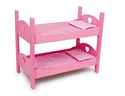 Small Foot Company 2871 - Litera de madera para muecas, color rosa de Small Foot Company