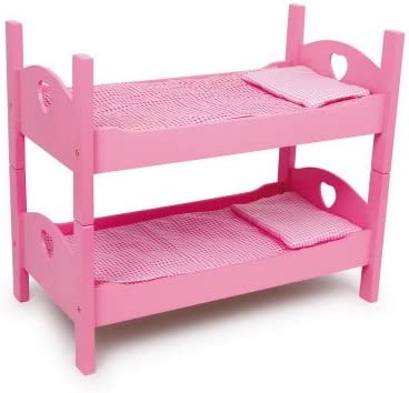 Small Foot Company 2871 - Litera de Madera para Muecas, color rosa