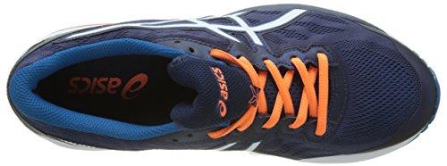 Asics Herren Gt-1000 5 Laufschuhe Mehrfarbig (Indigo Blue / Snow / Hot Orange)