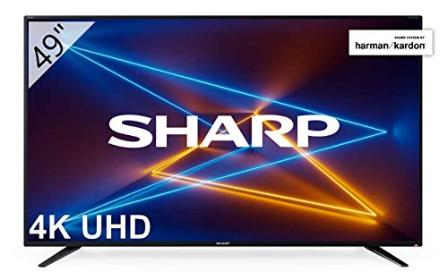 Sharp LC-49UI7252E - UHD Smart TV de 49' (resolución 3840 x 2160, HDR, 3X HDMI, 2X USB, 1x USB 3.0) Color Negro