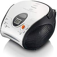 Lenco SCD24 - CD-Player für Kinder - CD-Radio - Stereoanlage - Boombox - UKW Radiotuner - Titel Speicher - 2 x 1,5 W RMS-Leistung - Netz- und Batteriebetrieb - Weiß