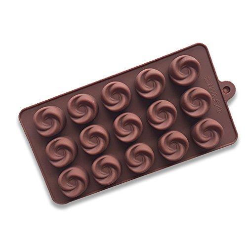Deanyi stampi in silicone stampi per dolci da fornox per cotturax per la cottura forma di mulinello stampo in silicone per muffin, biscotti, cioccolatini, cubetti di ghiaccio