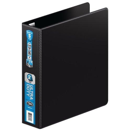 Wilson Jones Ultra Duty D-Ringbuch mit extra stabilem Scharnier 2-Inch schwarz