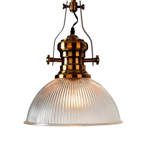 OYI Glas Pendelleuchten Vintage Industrial Deckenleuchte Hängeleuchte Hängend Lampenschirm für Esszimmer Esstisch Küche Wohnzimmer Schlafzimmer