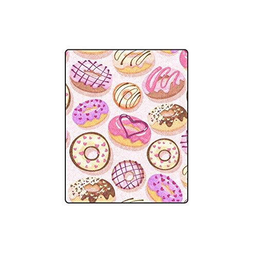 Süße leckere Schokoladen-Dessert Zucker Donut Custom Winter leichte Bequeme Pelz Fuzzy super weiche Fleece Couch Sofa und Bettdecke für Baby Frauen Größe 40 x 50 Zoll Maschine waschbar -