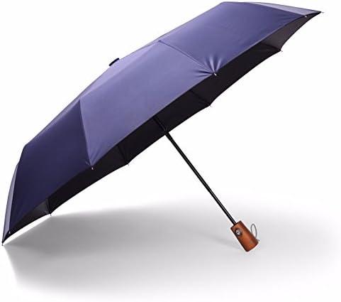 CNBBGJ Legno massello ossa dieci uomini business business business ombrello pieghevole automatico antivento 30 percento studente vinile ragazza ombrello,blu navy | I Clienti Prima  | Moda  abb0c8
