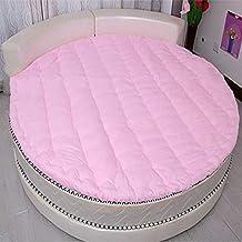 MSM Redonda Colchón, Espesar Acolchado Suaves Confort Color sólido Dormitorio Sala de Estar Estera de