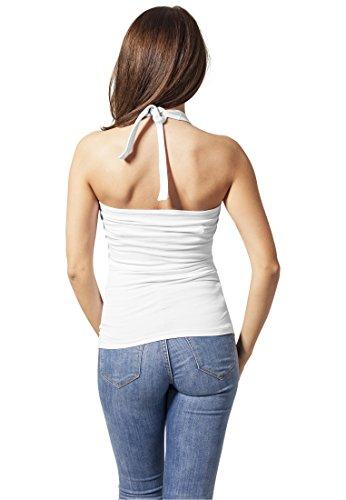Urban Classics Damen Top Ladies Neckholder Shirt White
