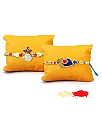 Tied Ribbons Rakhi With Roli Chawal Pack (Set Of 2)